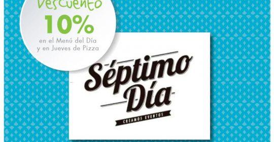 10% MENÚ DEL DÍA Y JUEVES PIZZA.